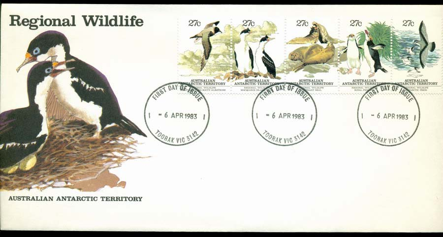 AAT 1983 Regional Wildlife, Toorak FDC Lot20220