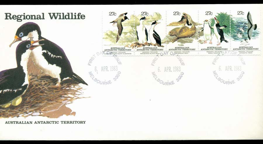 AAT 1983 Regional Wildlife, Melbourne FDC Lot20221