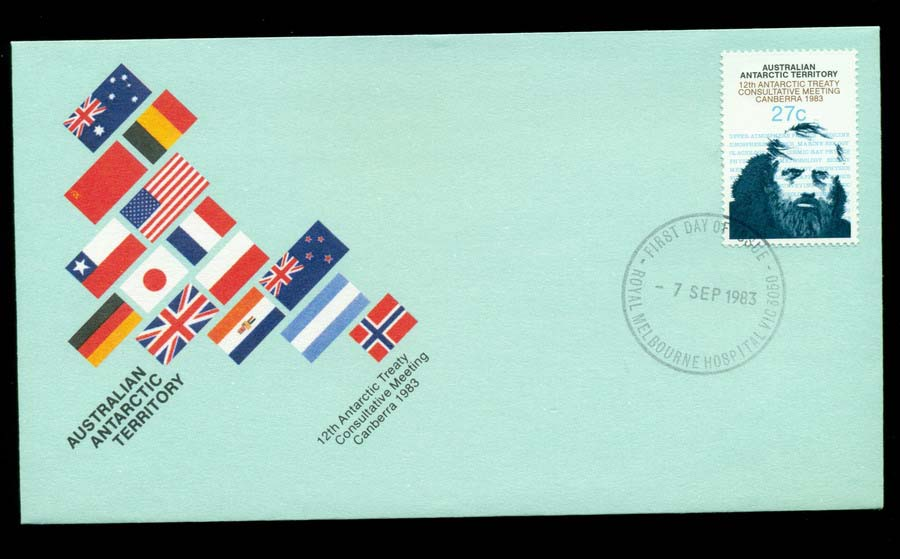 AAT 1983 Antarctic Treaty, Melb Hospital FDC Lot20224