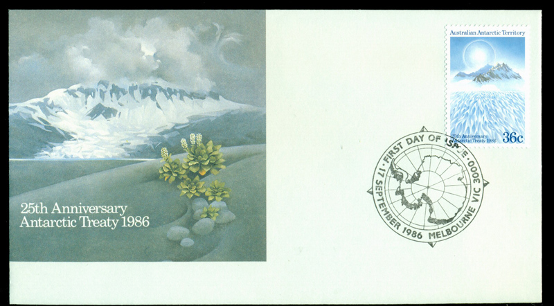 AAT 1986 Treaty, Melb FDC Lot20234