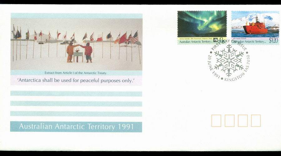 AAT 1991 Treaty, Kingston FDC Lot20249
