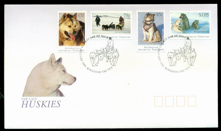 AAT 1994 Huskies, Kingston tas FDC Lot20254