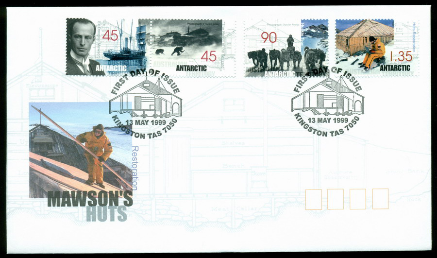 AAT 1999 Mawsons Huts, Kingston FDC Lot20260