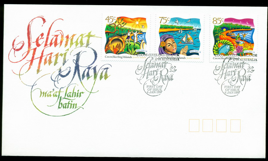Cocos Keeling Is 1997 Festive Season FDC Lot20304