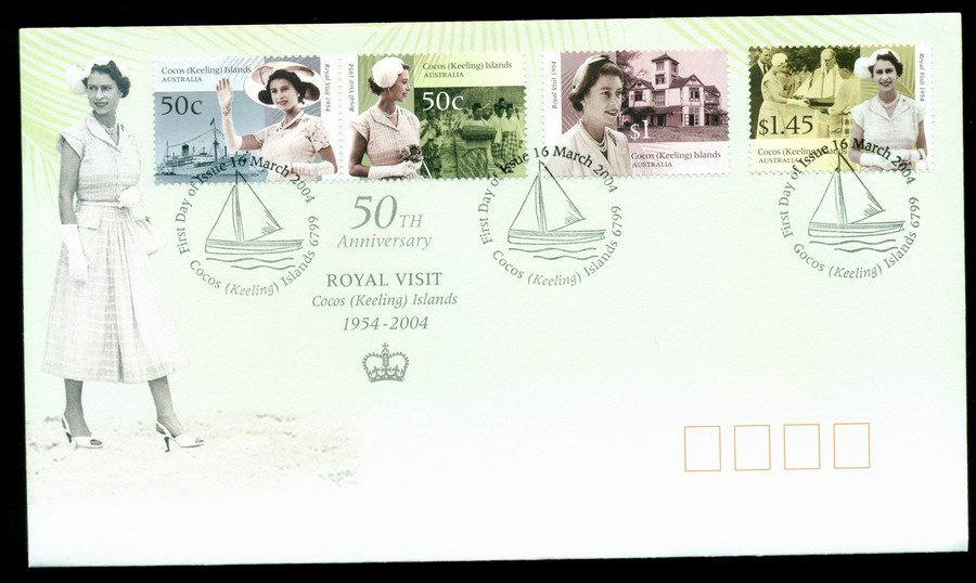Cocos Keeling Is 2004 Royal Visit FDC Lot20306