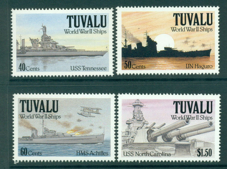 Tuvalu 1991 WWII Ships MUH Lot20388