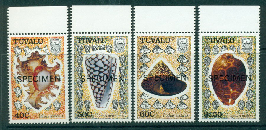 Tuvalu 1991 Shells SPECIMEN MUH Lot20417