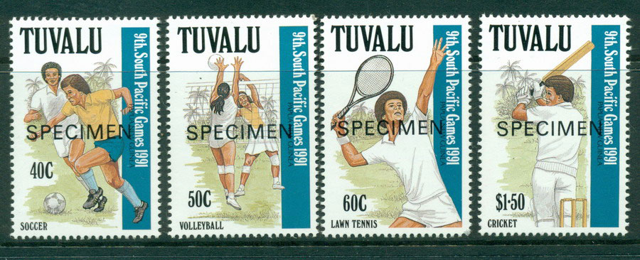 Tuvalu 1991 South Pacific Games SPECIMEN MUH Lot20421