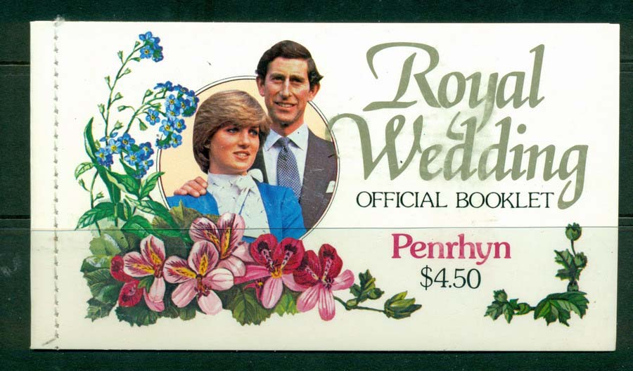 Penrhyn Is 1981 Royal Wedding Booklet MUH Lot20460