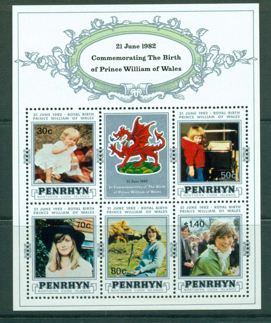 Penrhyn Is 1982 Birth of Prince William MS MUH Lot20466