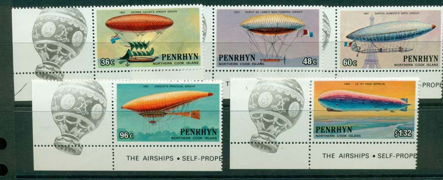 Penrhyn Is 1983 Manned Flight Islans MUH Lot20474