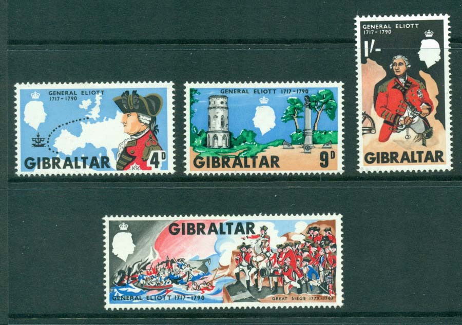 Gibraltar 1967 General Elliot MH Lot20661