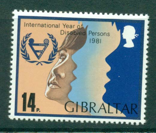 Gibraltar 1981 Year of Disabled MH Lot20717