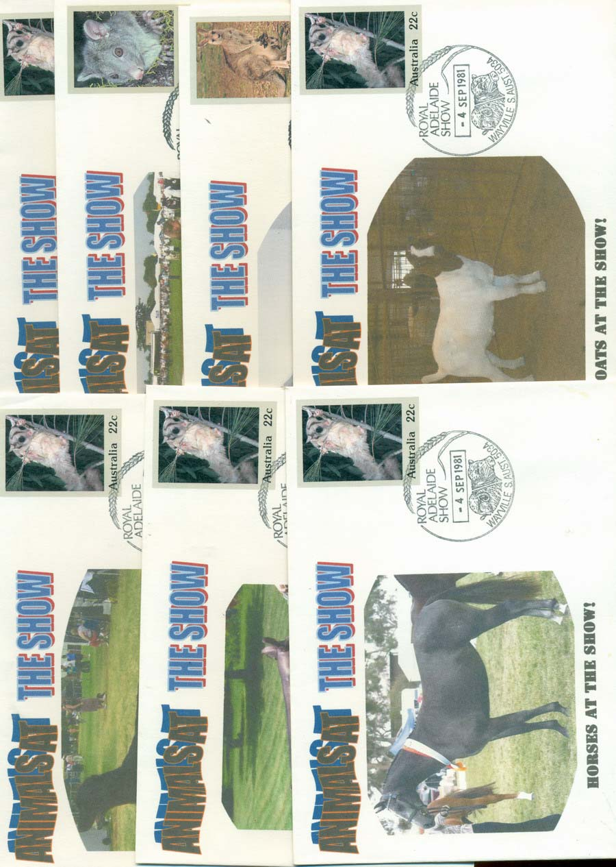 Australia 1981 Animals at the Show 7x PSE Lot20747 - Click Image to Close
