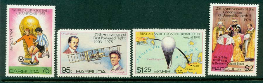 Barbuda 1978 Anniversaries MUH Lot20913