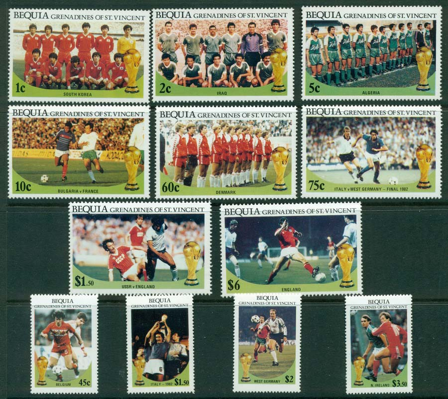St Vincent Bequia 1976 World Cup MUH Lot20924
