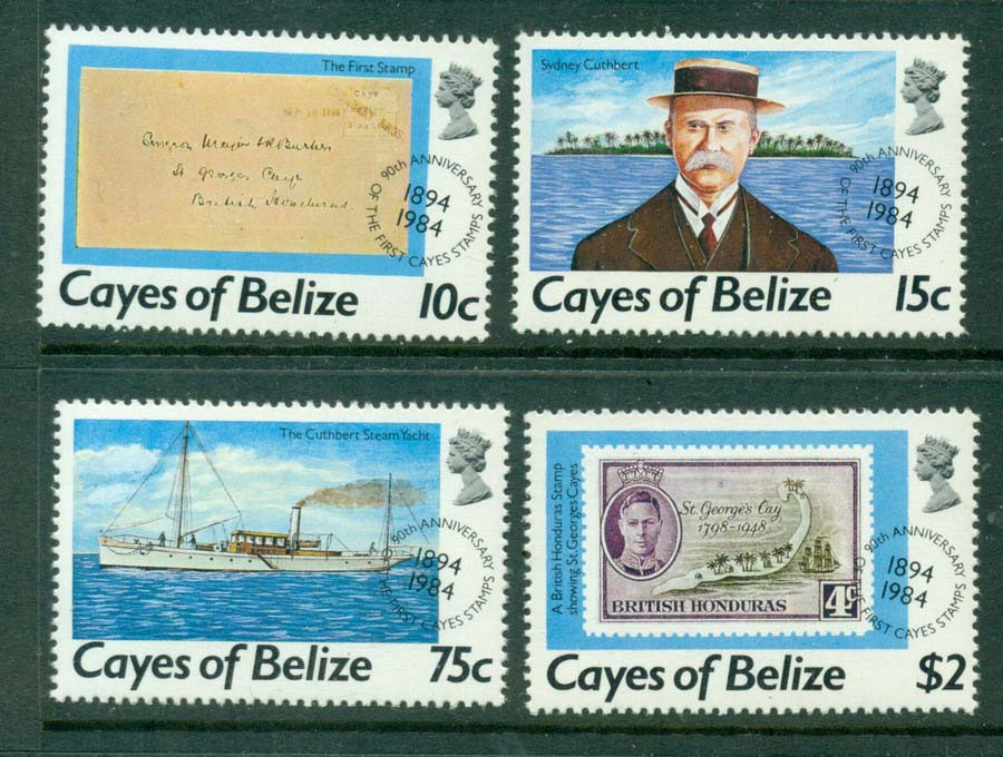Cayes of Belize 1984 Services MUH Lot20952