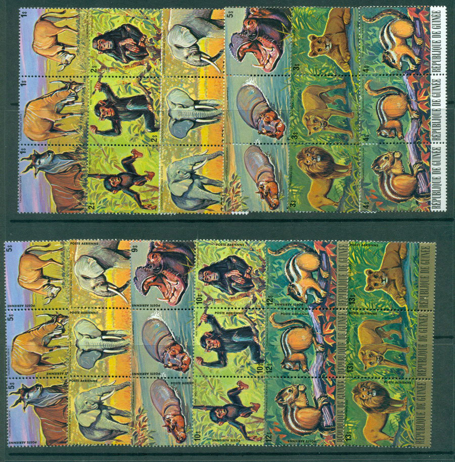 Guinee 1977 Endangered Animals CTO Lot21015