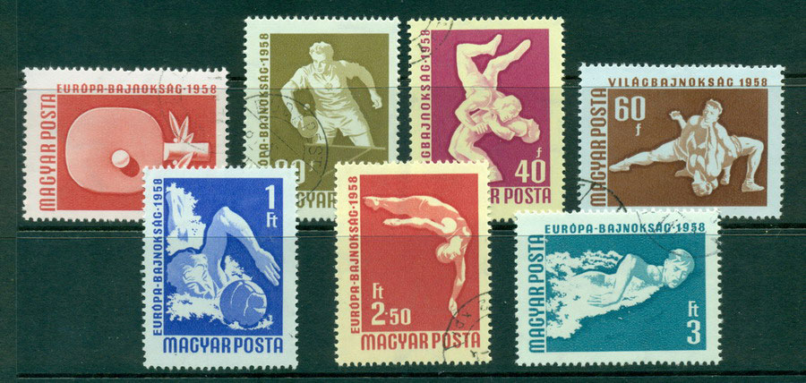 Hungary 1958 Swimming & Table Tennis CTO Lot21038
