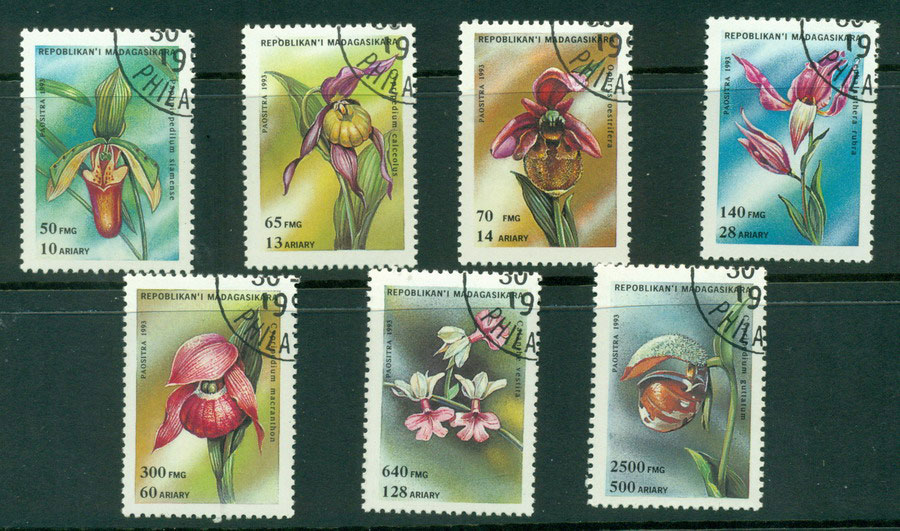 Madagascar 1993 Orchids CTO Lot21133