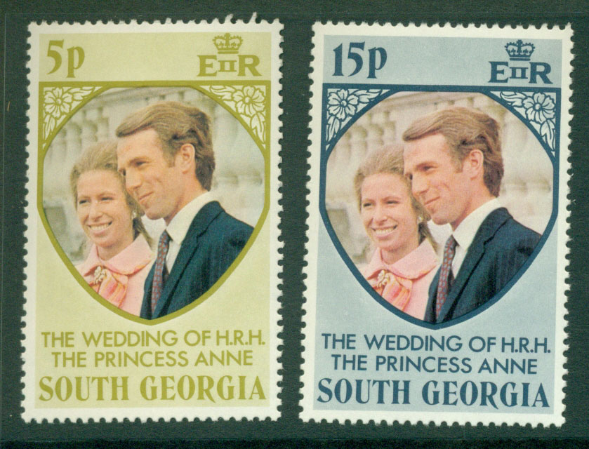 South Georgia 1973 Royal Wedding MUH Lot21271