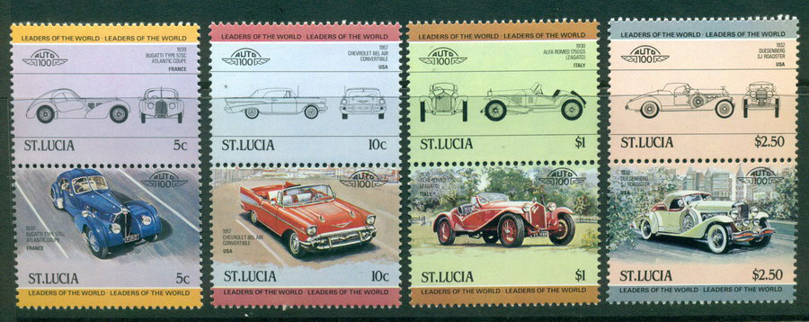 St Lucia 1984 Cars MUH Lot21286