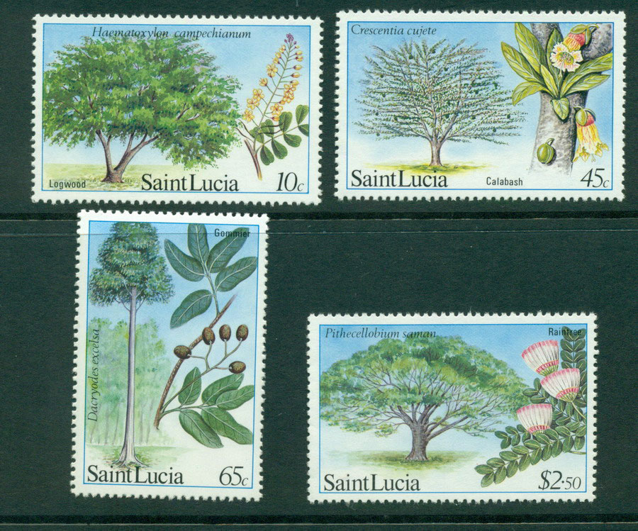St Lucia 1984 Trees MUH Lot21288