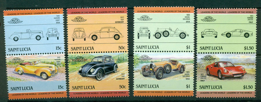 St Lucia 1985 Cars MUH Lot21290