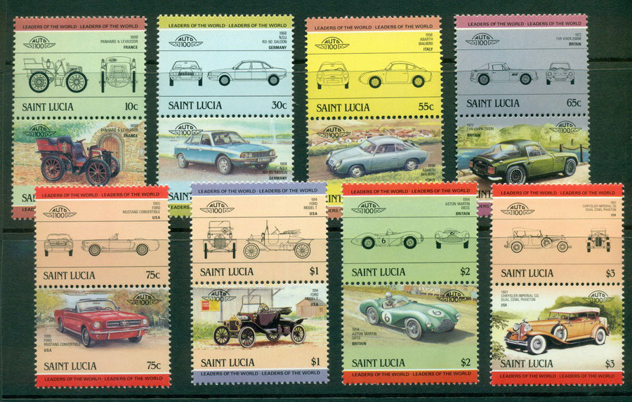 St Lucia 1985 Cars MUH Lot21293