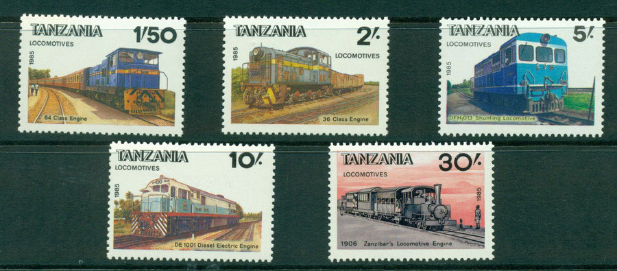 Tanzania 1985 Trains MUH Lot21323