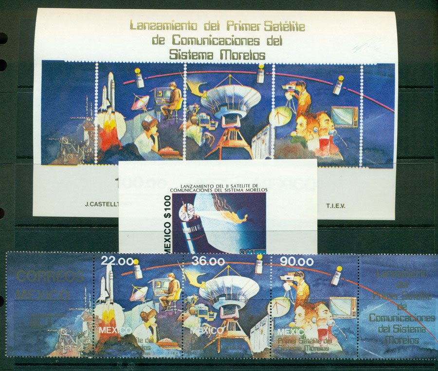 Mexico 1985 Space + 2x MS MUH Lot21348