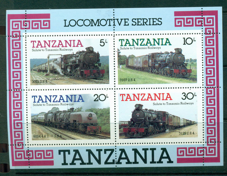 Tanzania 1985 Trains MS MUH Lot21358