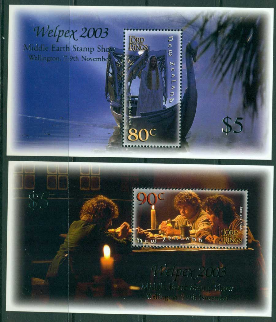New Zealand 2003 Return of the King Welpex 2x MUH Lot21368