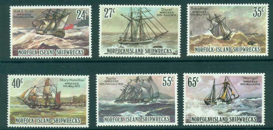 Norfolk Is 1982 Shipwrecks MUH (lot21505)