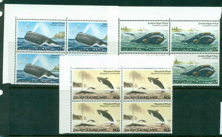 Norfolk Is 1982 Whales Block 4 MUH (lot21509)