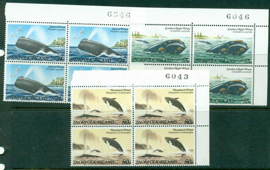 Norfolk Is 1982 Whales Block 4 MUH (lot21510)