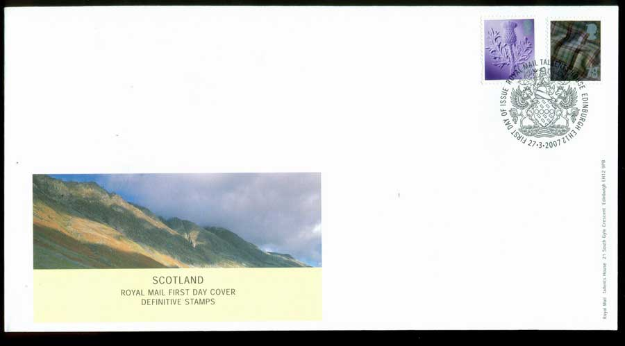 Scotland 2007 48,78p Regional FDC (lot21621)