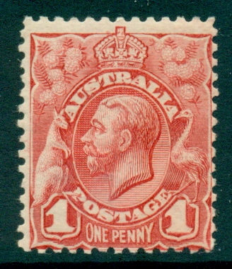 Australia 1913 1d Red Engraved MUH (lot21796)