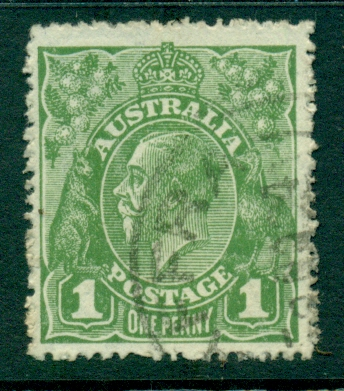Australia KGV Head 1d Green Large Multi Wmk FU (lot21827)