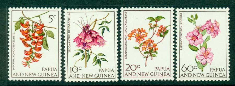 PNG 1966 Flowers MUH (lot21991)