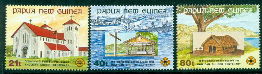 PNG 1991 Churches MUH (lot22053)