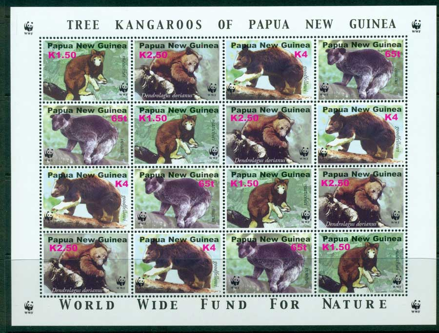 PNG 2003 Tree Kangaroo Sheetlet MUH (lot22133)