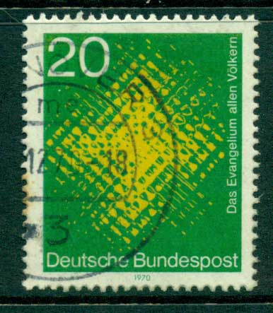 Germany 1970 Catholic Missionaries FU (lot22535)