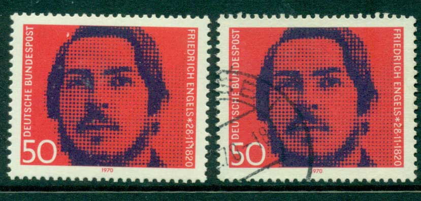 Germany 1970 Friedrich Engels MUH+FU (lot22539)