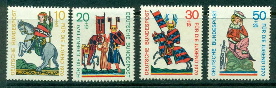 Germany 1970 Welfare Knights MUH (lot22562)
