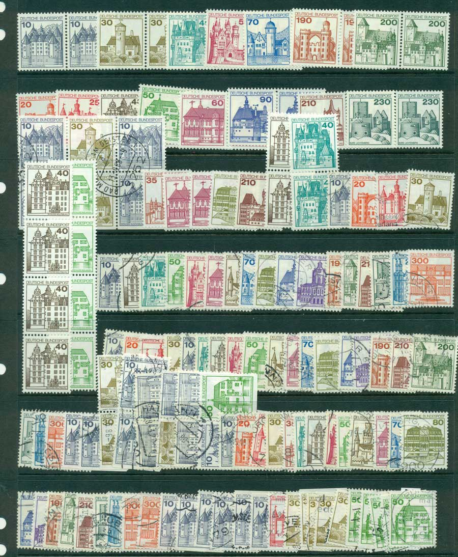 Germany 1976 Buildings Asst MUH/FU (lot22613)