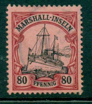 Marshall Is 1901 80pf Yacht VFU (lot23331)