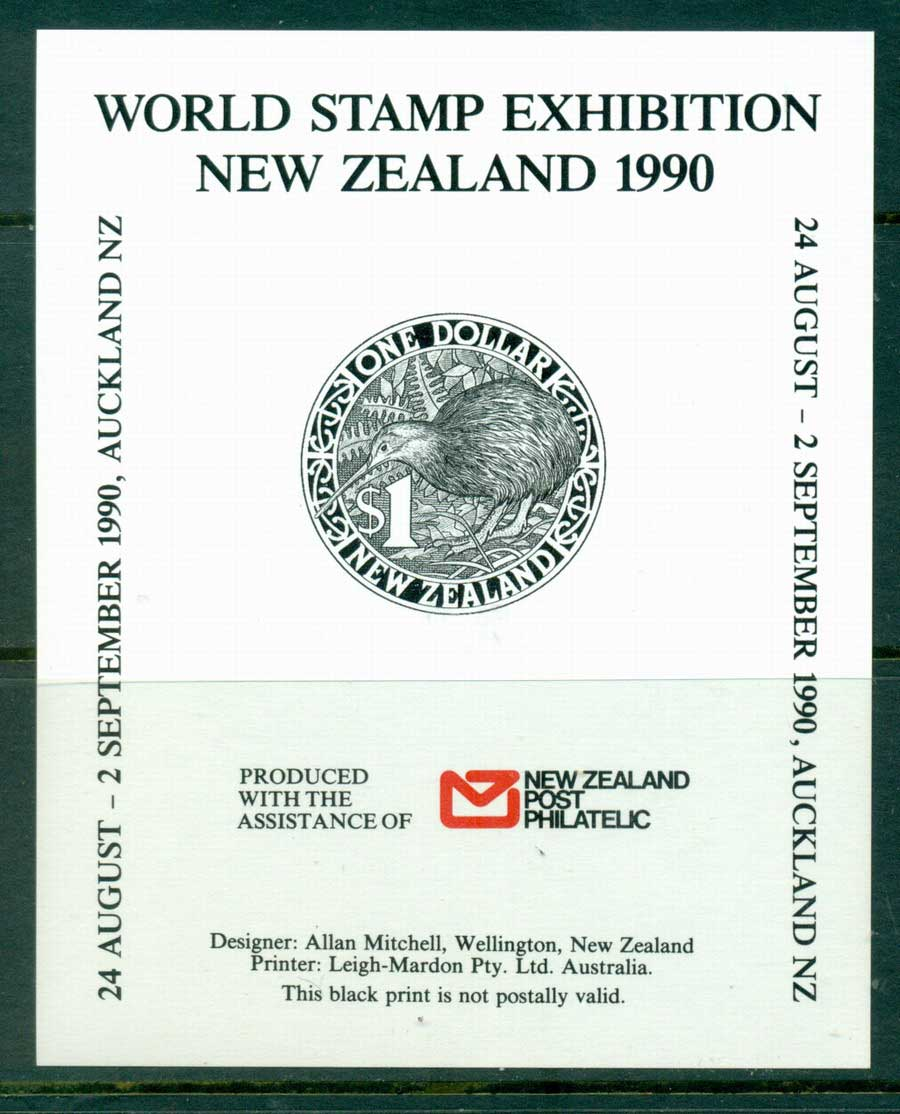 New Zealand 1990 $1 Kiwi Auckland Stamp Ex MS MUH (lot23362)