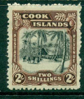 Cook Is 1938 2/- Wmk MLH (Suntanned gum) (lot23371)