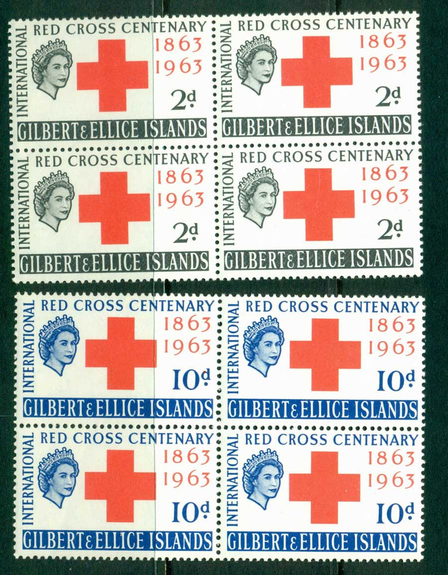 Gilbert & Ellice Is 1963 Red Cross Block 4 MUH (lot23420)